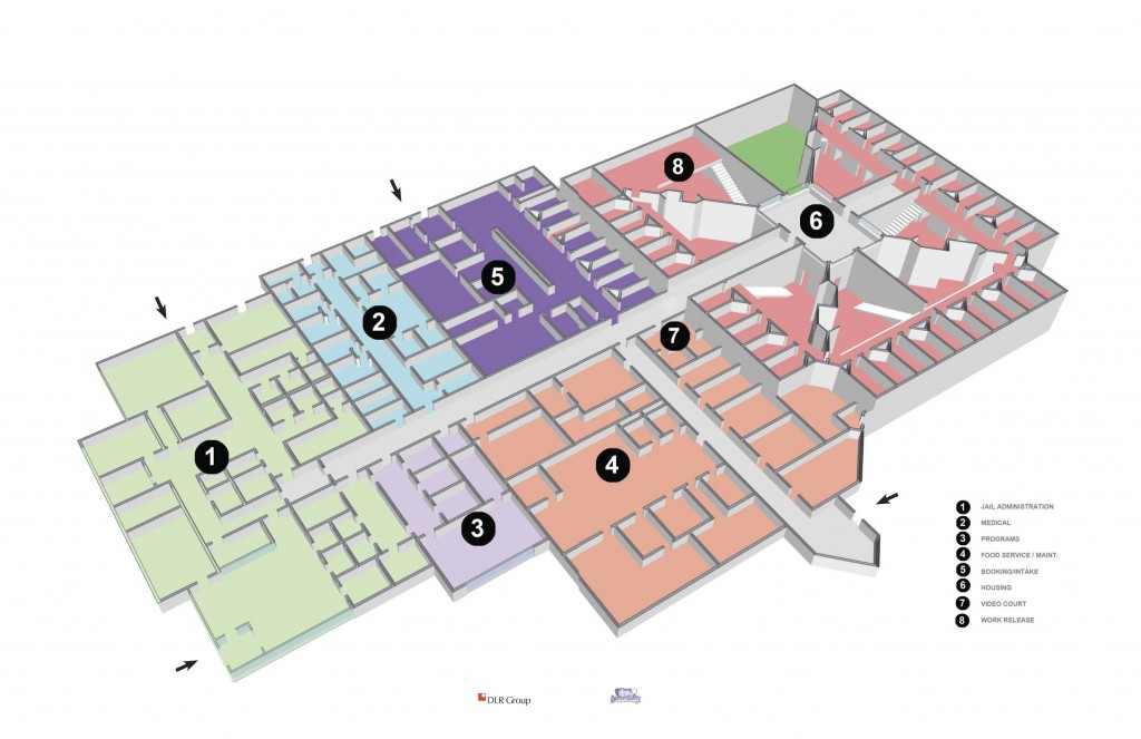 Floor plan for proposed Benton County jail